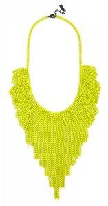 Neon Yellow Acid Fringe Necklace